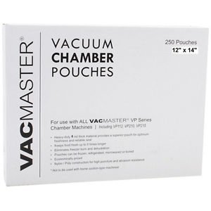 """250 VacMaster 12""""X14"""" CHAMBER POUCHES / BAGS 4 mil SOUS VIDE and chamber sealers"""