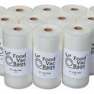 "TWELVE 8""X50' 4 MIL FoodVacBags Embossed Vacuum Sealer Food Saver Rolls(1 CASE)"