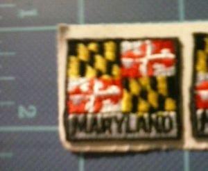 Maryland State Flag Embroidered Patch Sew Iron On Biker Vest Applique Emblem New