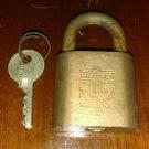 Vintage Brass HURD Marine Lock w/ Key Anchor Logo Nautical USN? Very nice lock!