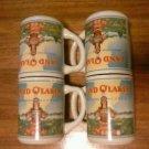 Vintage Set of Six (4) Land O'Lakes Sweet Cream Butter Coffee/Tea Mugs