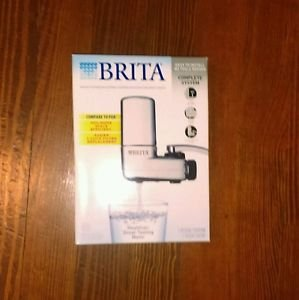 NEW Brita Complete On Tap Faucet Water Filtration System Chrome Model SAFF-100