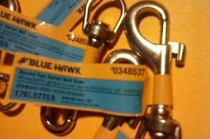 Blue Hawk Round Eye Swivel Bolt Snap - set of 4 - FREE SHIPPING