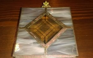 Vintage Leaded Glass, Stained, Beveled & Etched Glass Curio/Jewelry/Trinket Box