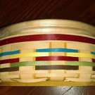 "A new2012 Longaberger  basket, Signature Plaid 8"" Round Basket  Protector Rare"