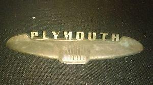 Chrome 1952 Plymouth Trunk Handle License Plate trim Emblem PLYAT