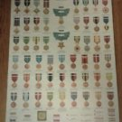 1963 U.S. MARINE, ARMY, VIETNAM ERA, ARMED FORCES decorations & awards POSTER