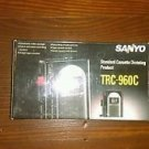 Vintage SANYO TRC-960C Standard Cassette Dictaphone recorder Book VAS in box!