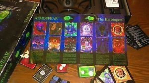 "RARE horror board game complete Mattel Atmosfear ""The Harbingers"" VHS Tape boo!"
