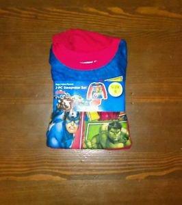 Nice New warm Boys Avengers 2 Pc Flannel Pajama Set Size 8 great gift!