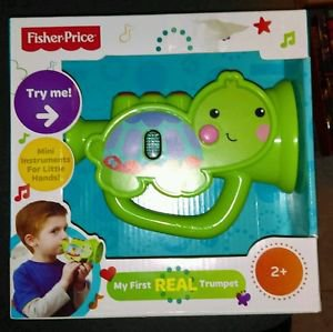Fisher Price My First Real Trumpet Toy Musical Instrument Turtle KFP2133 NEW