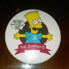 Rare 1990 The Simpsons Bart Put Fox Affiliates On Lower Tiers Pin Pinback Button