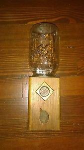Vintage Candy Dispenser Mason Jar Nut Gumball Wood Rustic Primitive Folk Art