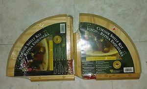 A pair of Corner Shelf Kit (s) Lewis Hyman 10x10 unfinished Pine/solid wood dyi