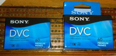 New sealed Sony DVM60PRR DVC Mini DV 60min Digital Video Cassette 3-Packs