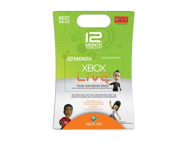 Xbox 360 Live 12 Month Gold Card  Shipped out in 24hrs