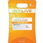 5 - 3 Months Microsoft Xbox 360 Live Subscription Card