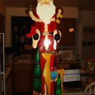 "Beautiful 24"" Tall Wooden Santa"