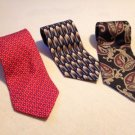Lot Of 3 Frangi Insignia Claybrooke Neckties 100% Silk Ties.
