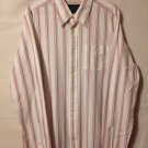 Hollister Mens XL White Striped Long Sleeve Button Front Casual Dress Shirt