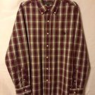 U.S. Polo Assn Mens Large Plaid Checkered Button Front Casual Dress Shirt
