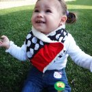 Blue, Red, White Scarf / Bib Super Absorbent and Stylish by Baby Forezt