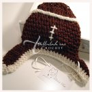 Crocheted Baby Football Hat - Are You Ready for Some Football? - James