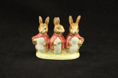 Beatrix Potters Flopsy Mopsy Cottontail Figurine F Warne Co 1954