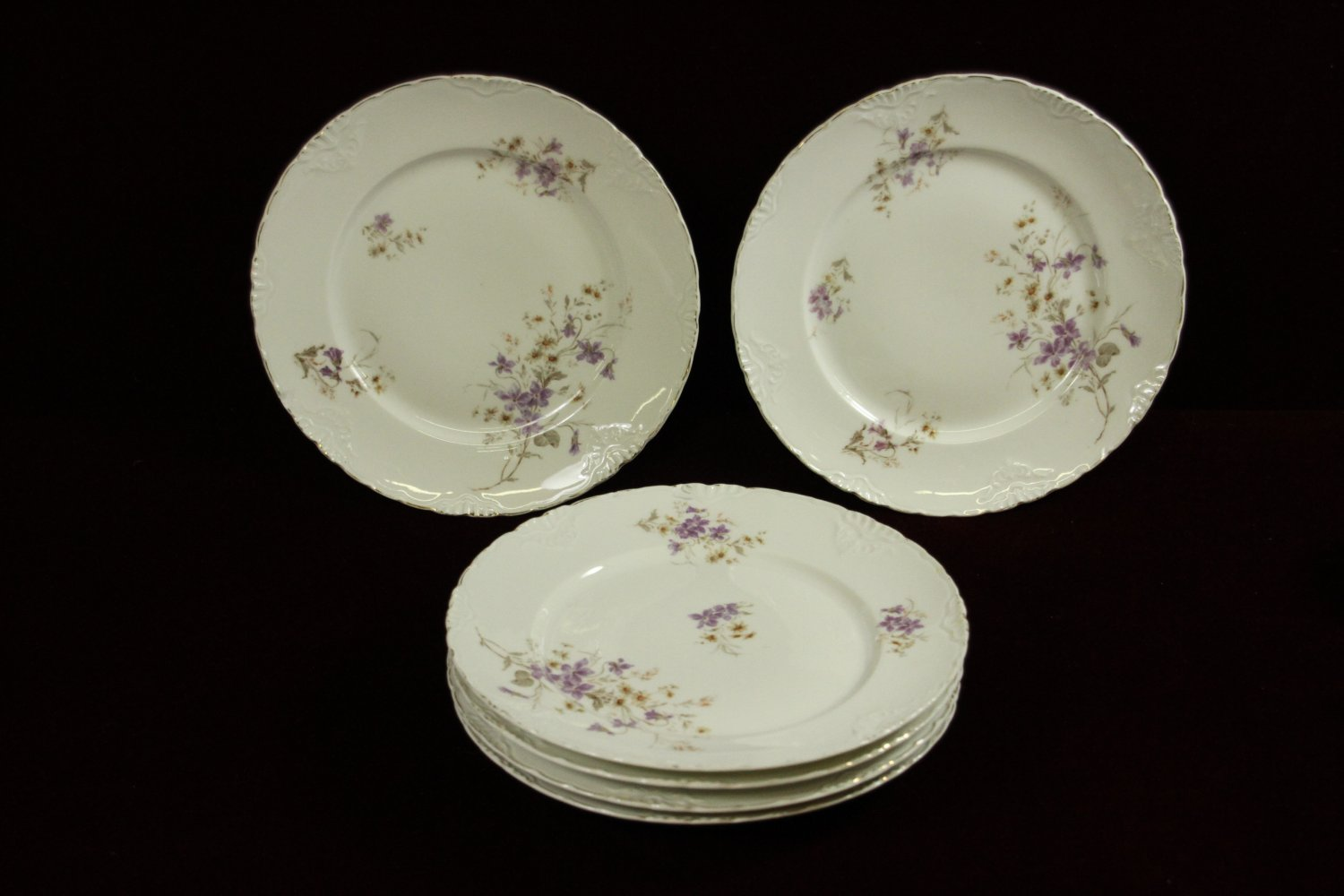 celebrate china dinner plates cluny german rare floral lavender four - China Dinner Plates