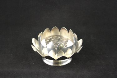 Reed and Barton Lotus Frog Flower Centerpiece Silver Plate 3002