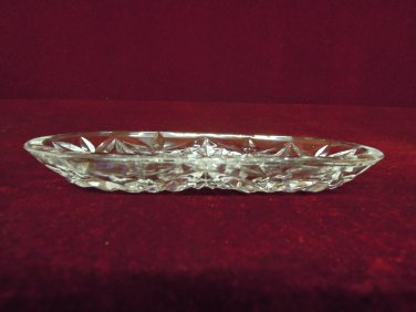 Vintage Waterford Crystal Oval Bowl Collectible
