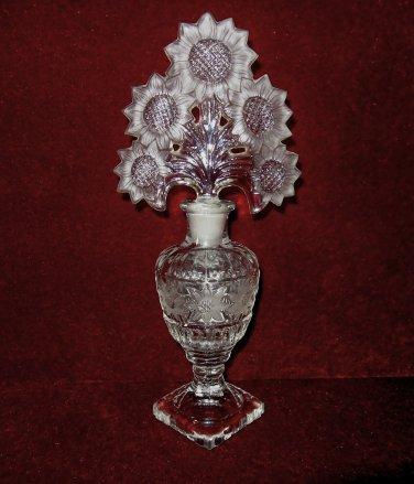 Imperial I Rice Irice Perfume Bottle Sunflowers Pedestal Base