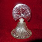 Vintage Perfume Bottle  Star Topper Glass