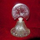 Vintage Perfume Bottle  Star Topper Glass