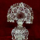 Vintage Art Deco Perfume Bottle Fan Hobstar Glass Stopper