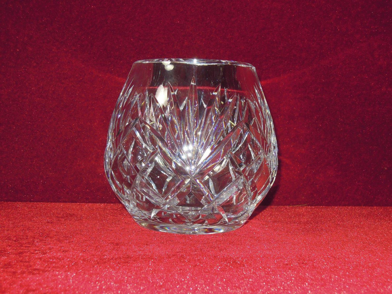 Glass Rose Bowl Vase Leaves Radiant Star