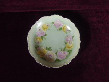 Antique P T Germany Porcelain Plate Roses