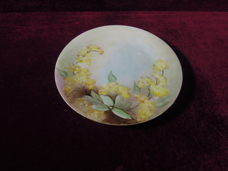 Antique La Seynie Limoges France P & P Plate Floral