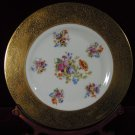 Gold Encrusted  Cabinet Plate Five Sprays Floral  Czechoslovakia 2