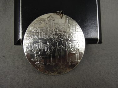 Jim & Tammy Faye Baker PTL Club Medallic Art Co. Medallion Sterling .925 Silver