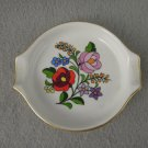 Vintage Kalocsa Floral Dish Ashtray Hungary