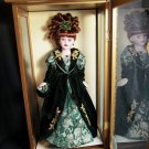 Brass Key Camellia Garden Porcelain Doll In Case  Featuring  Swarovski Jewels