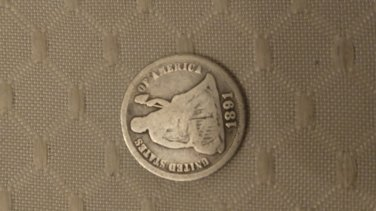 circulated seated liberty dime random dates AG-G+