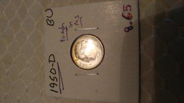 1947s BU roosevelt silver dime