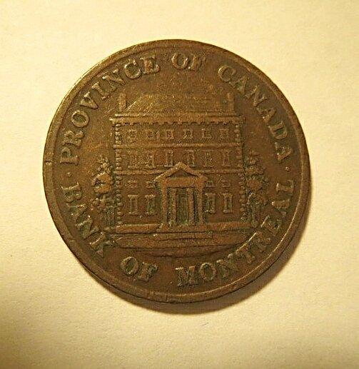 1844 Canadian bank token high grade