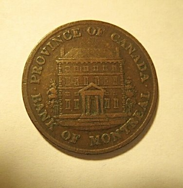 1844 Canadian bank token high grade