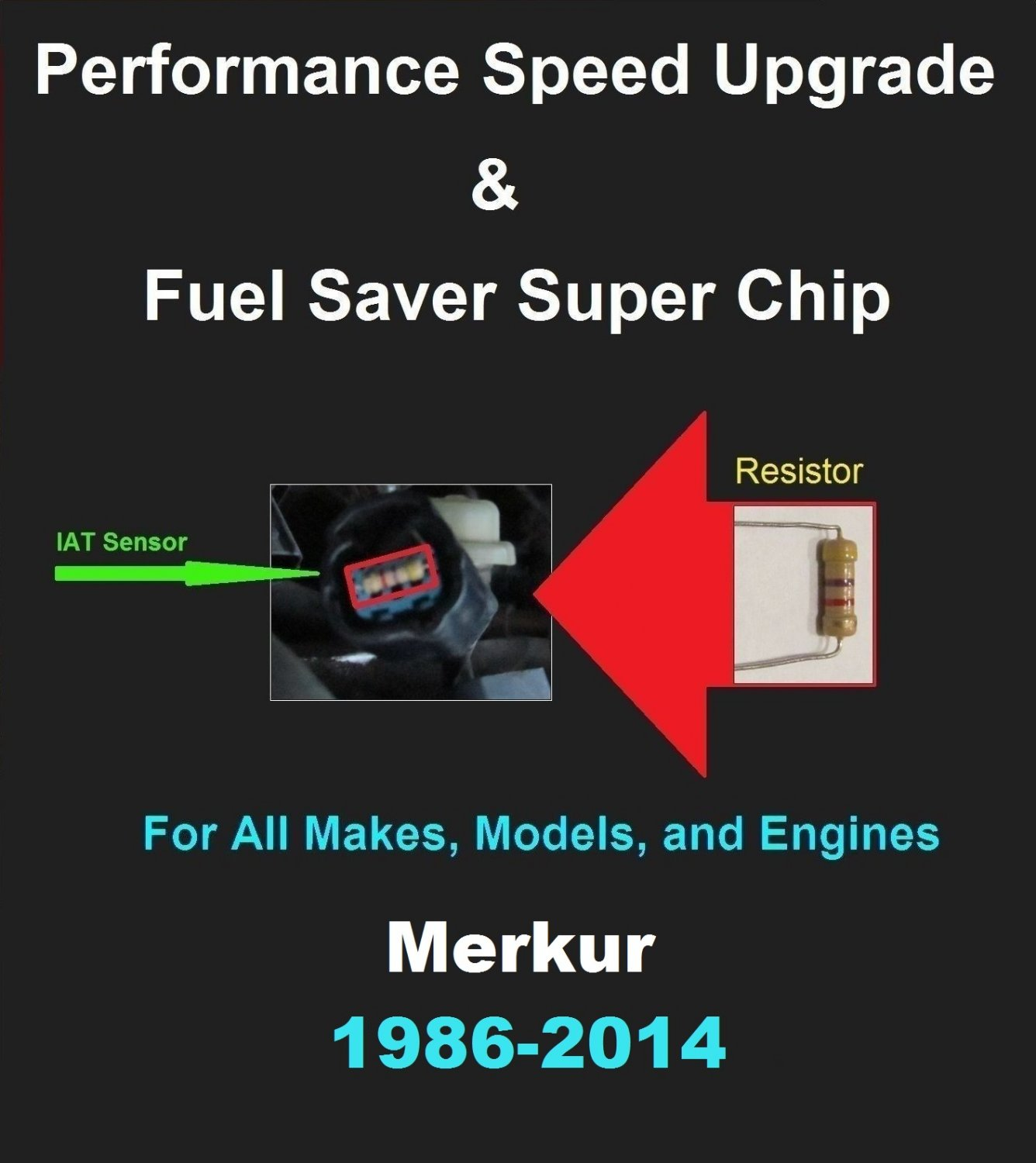 Merkur Performance IAT Sensor Resistor Chip Mod Kit Increase MPG HP Speed Power Super Fuel Gas Saver