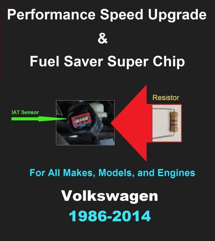Volkswagen Performance IAT Sensor Resistor Chip Mod Increase MPG HP Speed Power Super Fuel Gas Saver