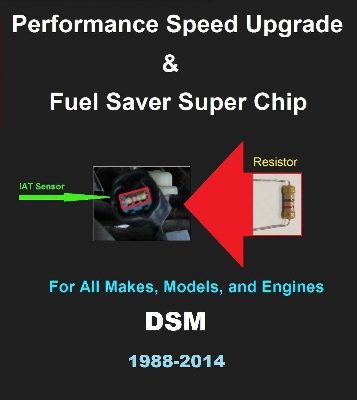 DSM 1988-04 Performance IAT Sensor Resistor Chip Mod Kit Increase MPG HP Power Super Fuel Gas Saver
