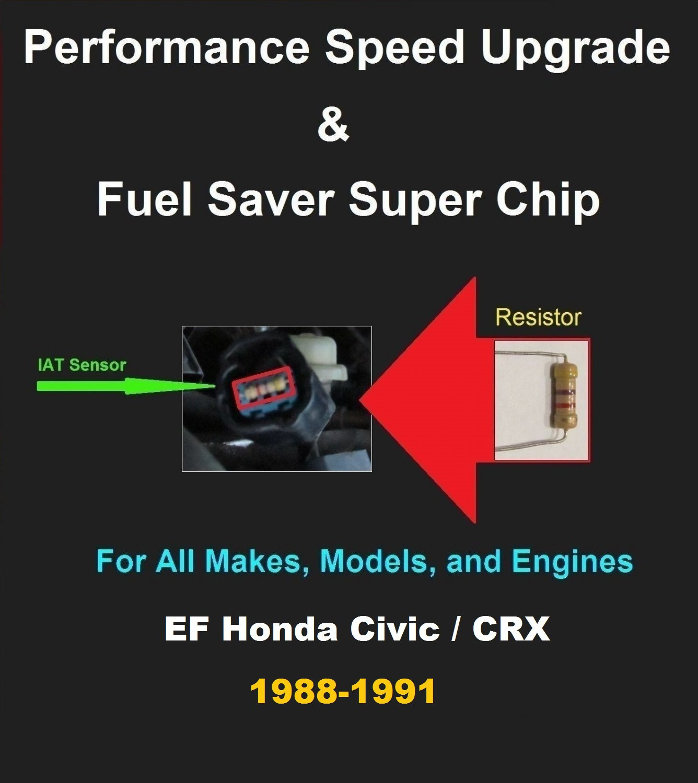 EF Civic / CRX 88-91 Performance IAT Sensor Resistor Chip Mod Kit Increase MPG HP Power Gas Saver